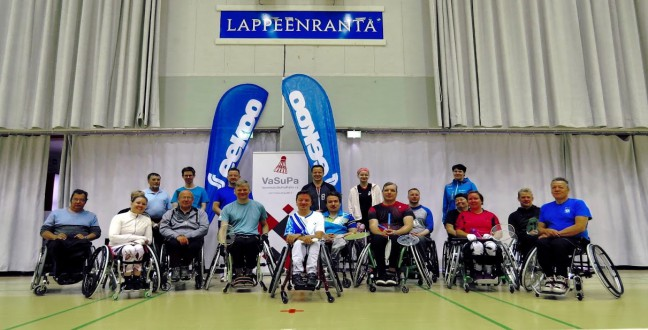 Finnish para-badminton tournament at Lappeenranta