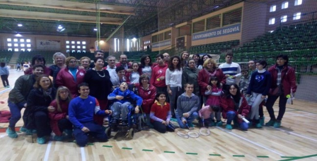 Inclusive Badminton in Pedro Degaldo Sports Hall – Sport Promotion Journay in Segovia.