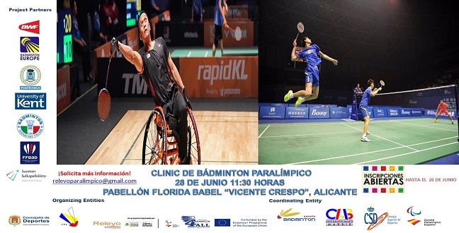 Inclusive activity by Alicante Badminton Club and Paralympic Relay